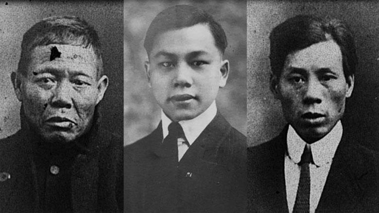 泰坦尼克号上的中国幸存者亚林、方荣山和严喜