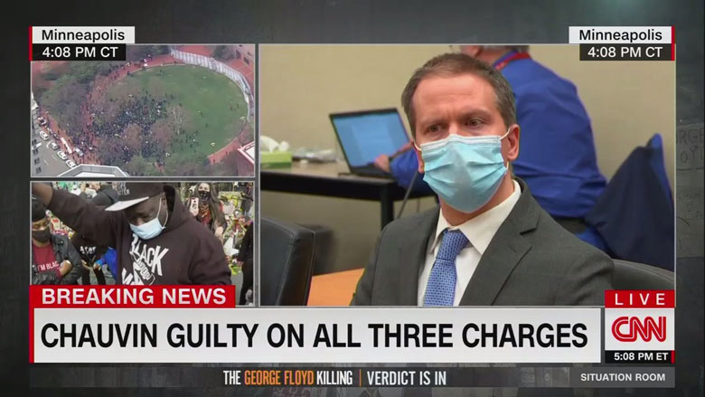 弗洛伊德之死案宣判:主流媒体实况直播